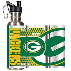 Green Bay Packers Stainless Steel Water Bottle with Met