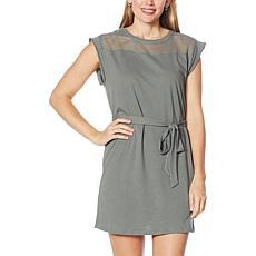 Grey State Rachel Mesh Yoke Belted Dress