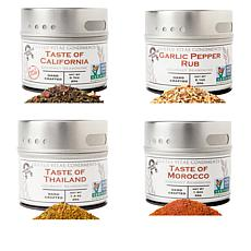 Gustus Vitae Luxury Seasoning 4-pack Spice Set in Gift Box