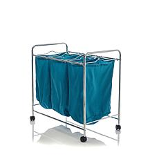 Hable 3-Bag Rolling Laundry Sorter