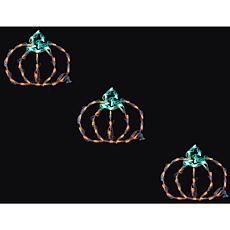 Halloween Indoor/Outdoor LED Lights  Set of 3 Mini Pumpkins (13 x 1...