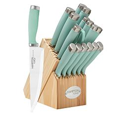 Hampton Forge Epicure 17-Piece Knife Block Set - Pistachio