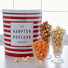 Hampton Popcorn 3.5 Gallon Large 3-in-1 Gourmet Popcorn Tin