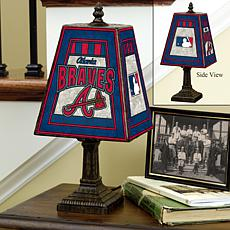 Handpainted Art Glass Team Lamp - Atlanta Braves - MLB