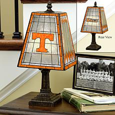 Handpainted Art Glass Team Lamp - Tennessee - College