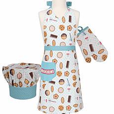Handstand Kitchen Milk and Cookies Deluxe Child Apron Set