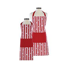 Handstand Kitchen Popcorn Adult and Child Apron Set