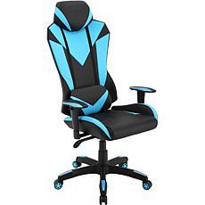 Hanover Black/Electric Blue Commando Ergonomic High-Back Gaming Chair
