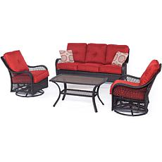 Hanover Orleans 4-Piece Patio Set - Autumn Berry