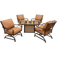 Hanover Summer Nights 5-piece Set with Fire Pit Table
