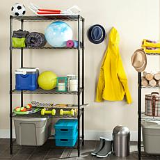 Happimess Alpha 5-Tier Wire Shelving - Chrome