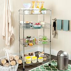 Happimess Mario 4-Tier Wire Basket Rack - Chrome