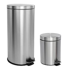 happimess Oscar 8-Gallon Step-Open Trash Can with Mini Can