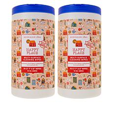 Happy Place 2-pack 70-count Multi-Surface Wipe Canisters