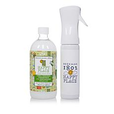 Happy Place 22oz Fabric Freshener Concentrate with Odor Blocker Set AS