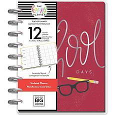 Happy Planner 12-Month Undated Classic Planner - School Days Teacher