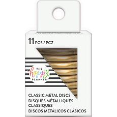 Happy Planner Medium Metal Expander Discs 11/Pkg - Gold