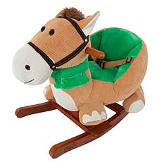 Happy Trails Plush Horse with Seat on Wooden Rockers