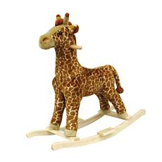 Happy Trails Plush Rocking Animal - Giraffe