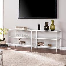 "Harris Metal/Glass 60"" TV Stand- White"