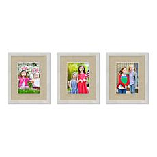 Harvest Collection 3pc Wall Gallery Frame Set, 11x14 w/ 8x10 Openings