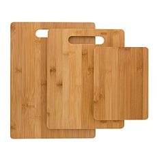 Hastings Home 3-Piece Set Bamboo Cutting Boards