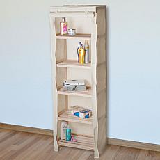 Hastings Home 5-Tier Wood Storage Shelving Rack
