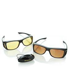 HD Vision™ Wrap Around Day and Night Sunglasses 2-pack