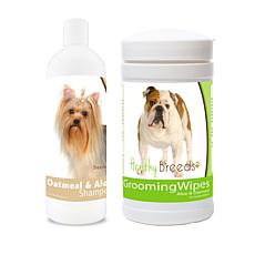Healthy Breeds Daily Grooming Care w/Oatmeal Shampoo & Grooming Wipes