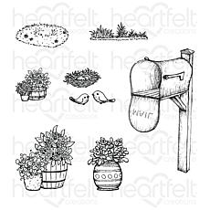 Heartfelt Creations Cottage Tree'scapes Cling Stamp Set