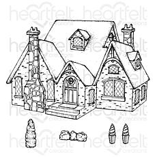 Heartfelt Creations Countryside Cottage Cling Stamp Set
