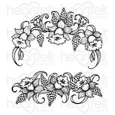 Heartfelt Creations Delightful Daffodil Spray  Cling Stamp Set