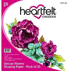 Heartfelt Creations Deluxe Flower Shaping Paper 25-pack - White