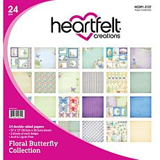 Heartfelt Creations Floral Butterfly Paper Collection