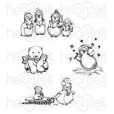 Heartfelt Creations Merry Moments Cling Stamp Set