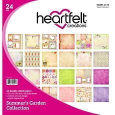 Heartfelt Creations Summer's Garden Paper Collection