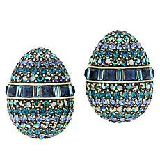 "Heidi Daus ""100-Year Egg"" Crystal Earrings"