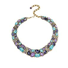 "Heidi Daus 16-3/4"" Multi-Color Crystal Collar Necklace"