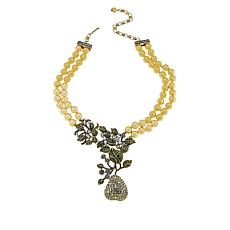 "Heidi Daus ""An-Jolie"" Multi-Strand Drop Necklace"