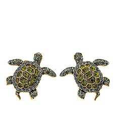 """Heidi Daus """"Bale of Turtles"""" Crystal Earrings"""