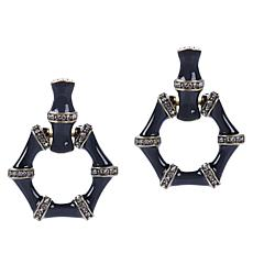 "Heidi Daus ""Bamboozled"" Crystal and Enamel Earrings"