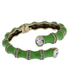 "Heidi Daus ""Bamboozled"" Hinged Enamel Cuff Bracelet"