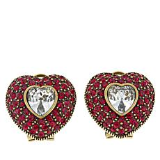 "Heidi Daus ""Be Mine"" Crystal Earrings"