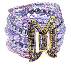 "Heidi Daus ""Bead It"" Crystal-Accented Multi-Row Bracelet"