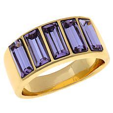 Heidi Daus Beautiful Baguette Band Ring