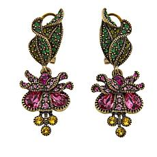 "Heidi Daus ""Beautiful Bleeding Heart"" Crystal Drop Earrings"