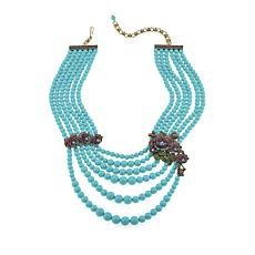 "Heidi Daus ""Blossoming Beauty"" 6-Strand Beaded Crystal Drop Necklace"