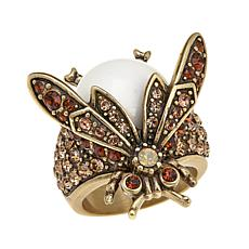 "Heidi Daus ""Bug Off"" Crystal Ring"
