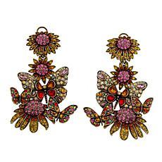"""Heidi Daus """"Butterflies Are"""" Crystal Drop Earrings"""