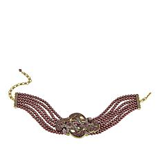 "Heidi Daus ""Captivating Carrie"" 6-Strand Beaded Choker Necklace"